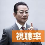 [安定の高視聴率]水谷豊主演の新ドラマ『相棒 14』の視聴率(1クール目)